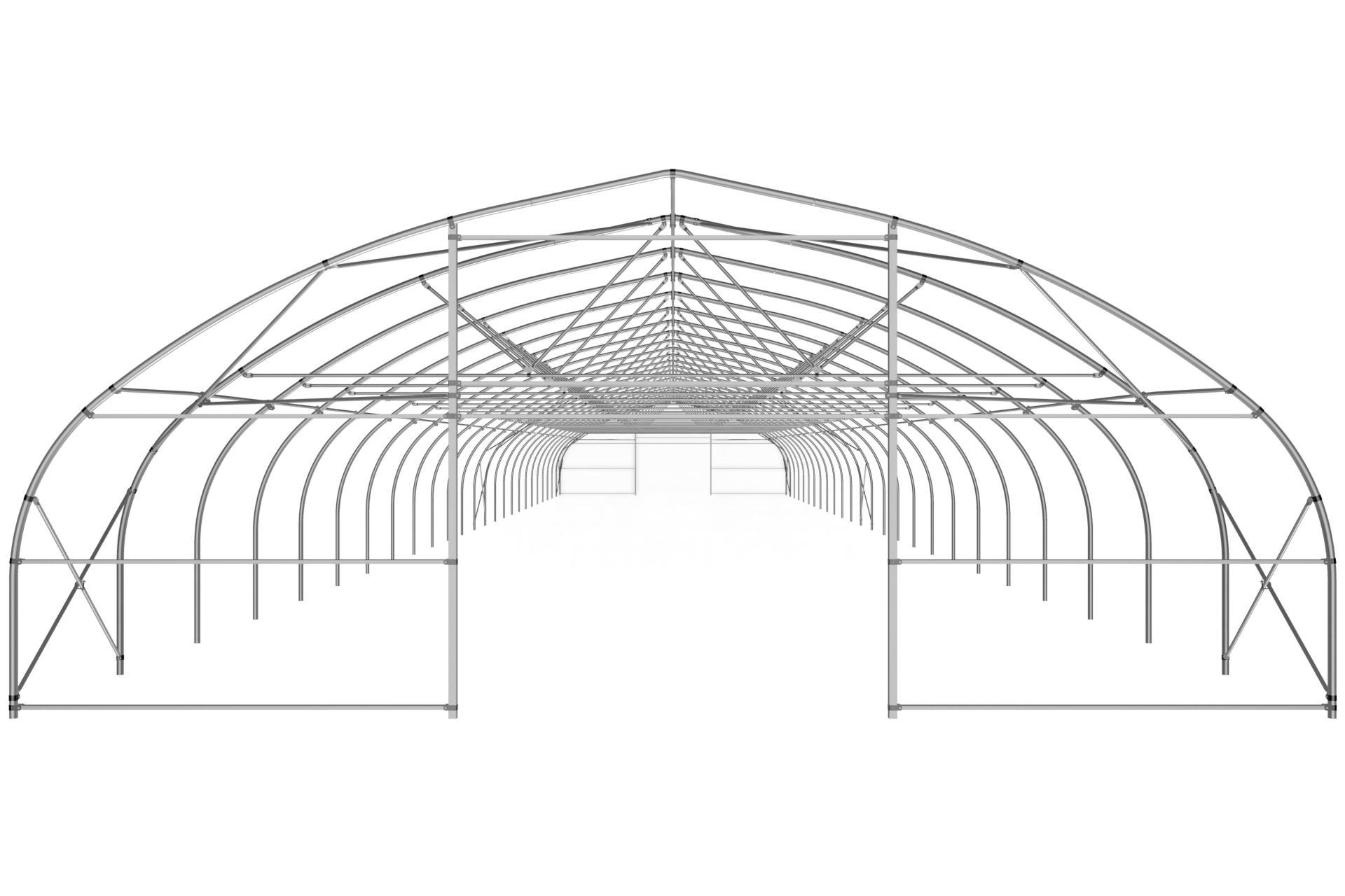 Теплица туннельная с прямой стенкой 9,6х4,0 м